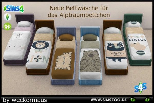 Blackys sims 4 zoo kidsroom new beddings by weckermaus for Mobilia zoo