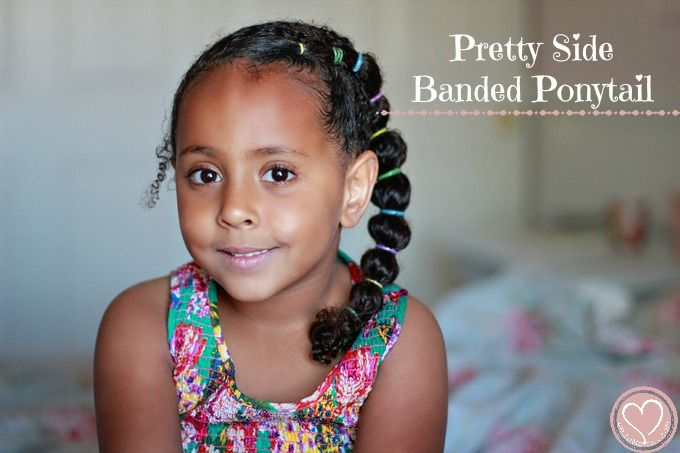 pretty side banded ponytail curly