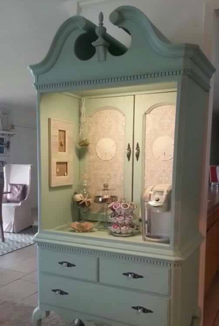 Armoire Habits Armoire Makeover Idea Cute Coffee Area Spruce Up Our Home