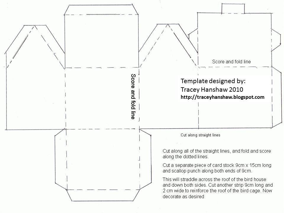 Image Result For Box Templates House Shaped Paper House Template