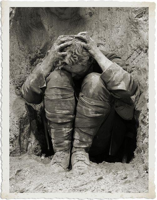 Der Krieg belastete die Soldaten auch psychisch