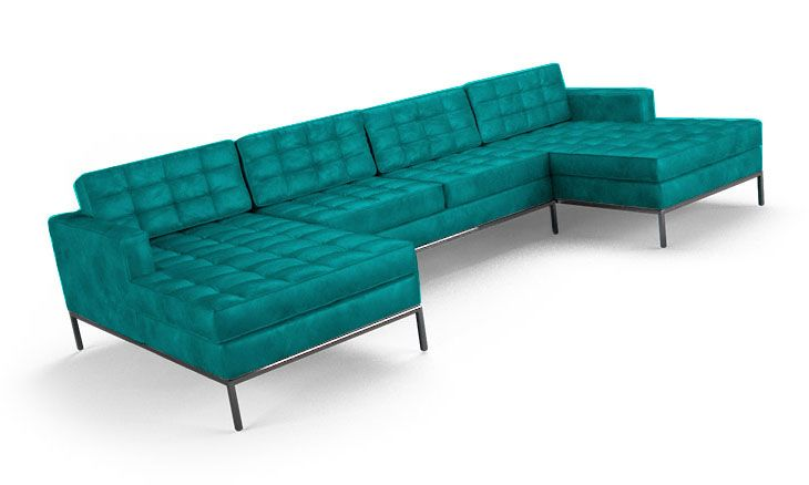 Franklin Leather U-Chaise Sectional (3 piece)  I love this sofa!