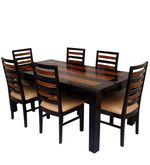 Winona Six Seater Dining Set In Dual Tone Finish By Woodsworth