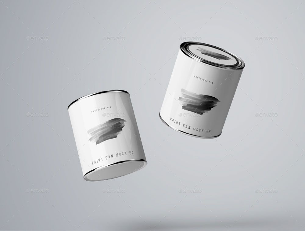 20 Excellent Paint Mockup Psd Templates Mockuptree Paint Cans Painting Buying Paint