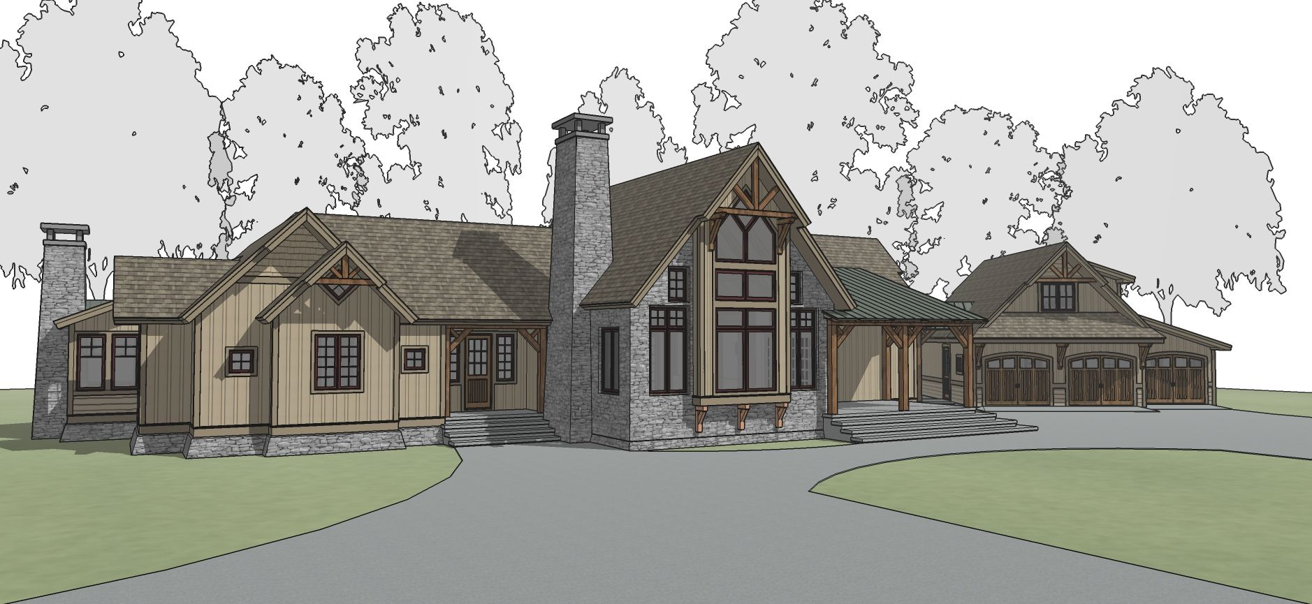 Blue Mountain Timber Frame Floor Plan By Mill Creek