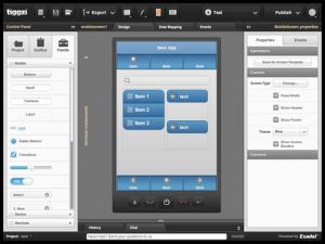 Drag and drop mobile app builder tiggzi makes building native and tiggziuieditor a do it yourself mobile app builder solutioingenieria Images
