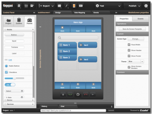 Drag and drop mobile app builder tiggzi makes building native and tiggziuieditor a do it yourself mobile app builder solutioingenieria Choice Image