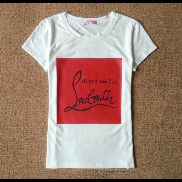 Fashion T Shirt Brand New Christian Louboutin Tops Tees Short