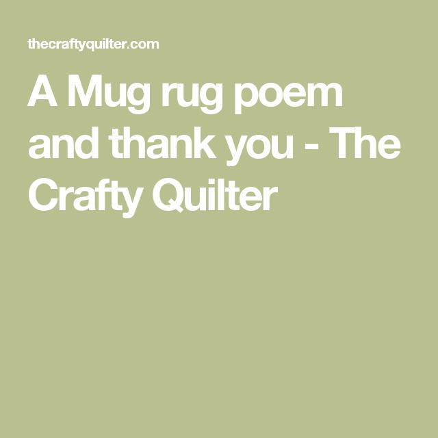 Mug Rug Poem