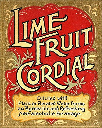 'Lime Fruit Cordial' - A4 Glossy Print Taken From A Wonderful Vintage Product Ad by Design Artist http://www.amazon.co.uk/dp/B00Q1AZNNC/ref=cm_sw_r_pi_dp_gYcsvb1NPCKDS