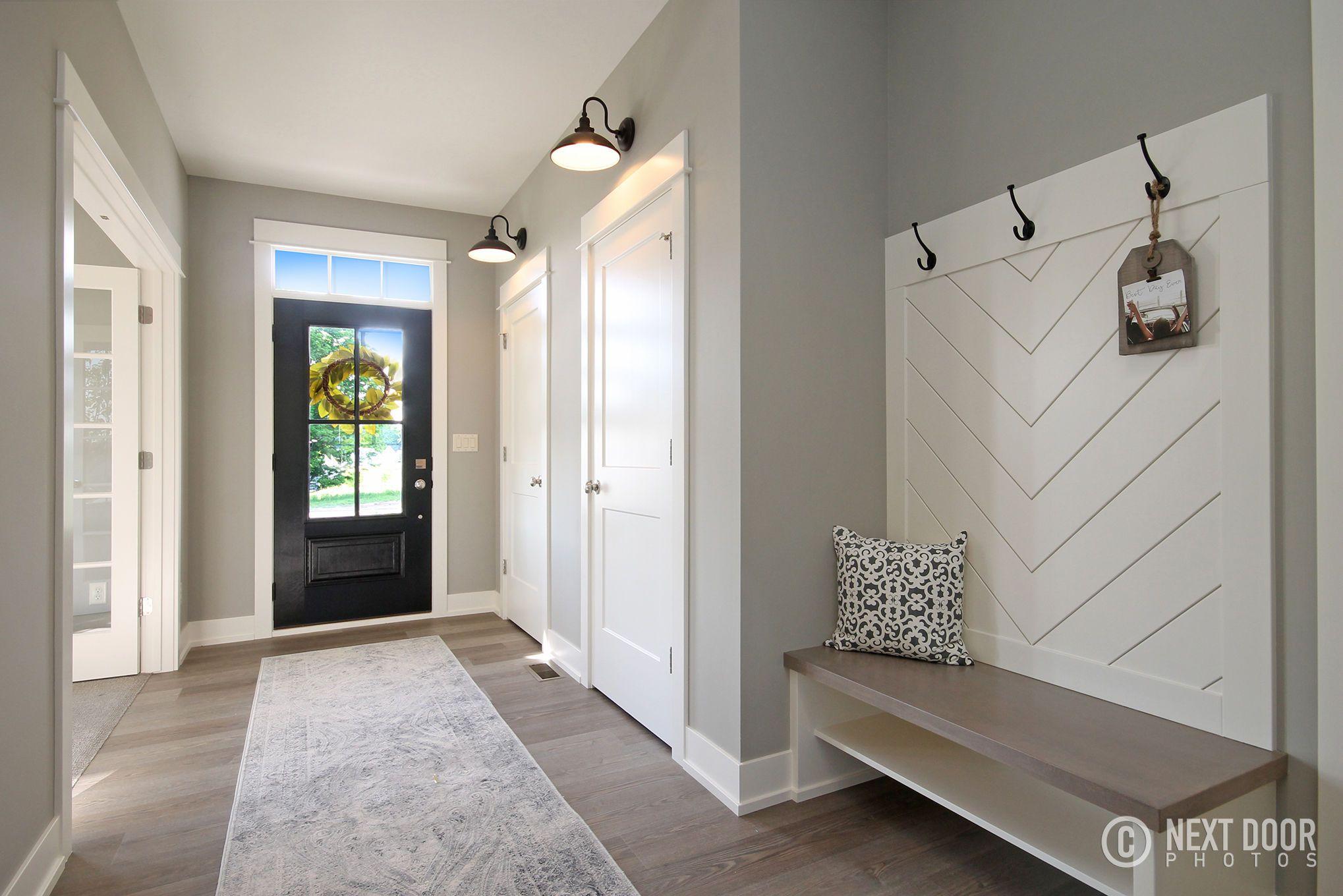 Luxury Vinyl Plank Throughout Main Floor, Black Painted Front Door,