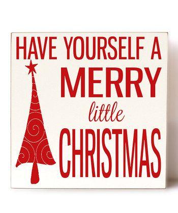 Vinyl Crafts - Cream & Red 'Merry Christmas' Wall Art