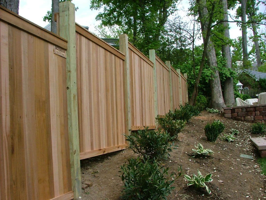 3 Cedar Flatboard Fence Stepped Fence Wood Fence Cedar