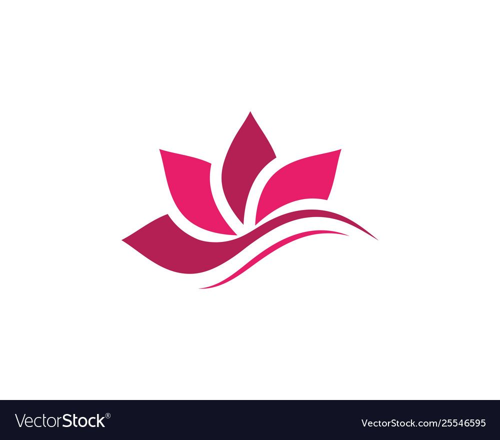 Beauty lotus flower icon royalty free vector image ad