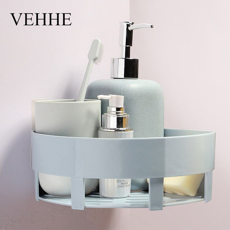 VEHHE Multifunction Plastic Bathroom Shelves Wall Hanging Corner ...