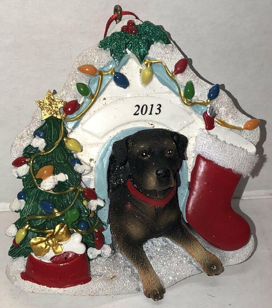 Rottweiler Stocking Christmas Ornament