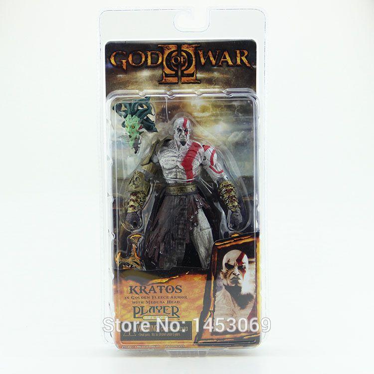 "God of War 1 stücke 7,5 ""NECA God of War Kratos in Golden Fleece Rüstung mit Medusa Leiter PVC Action Figure Sammlung # GOW002"