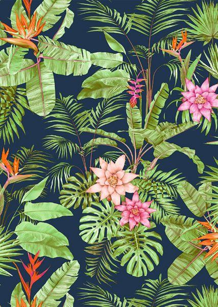 Melville - Lunelli Textil | www.lunelli.com.br #tropicalpattern