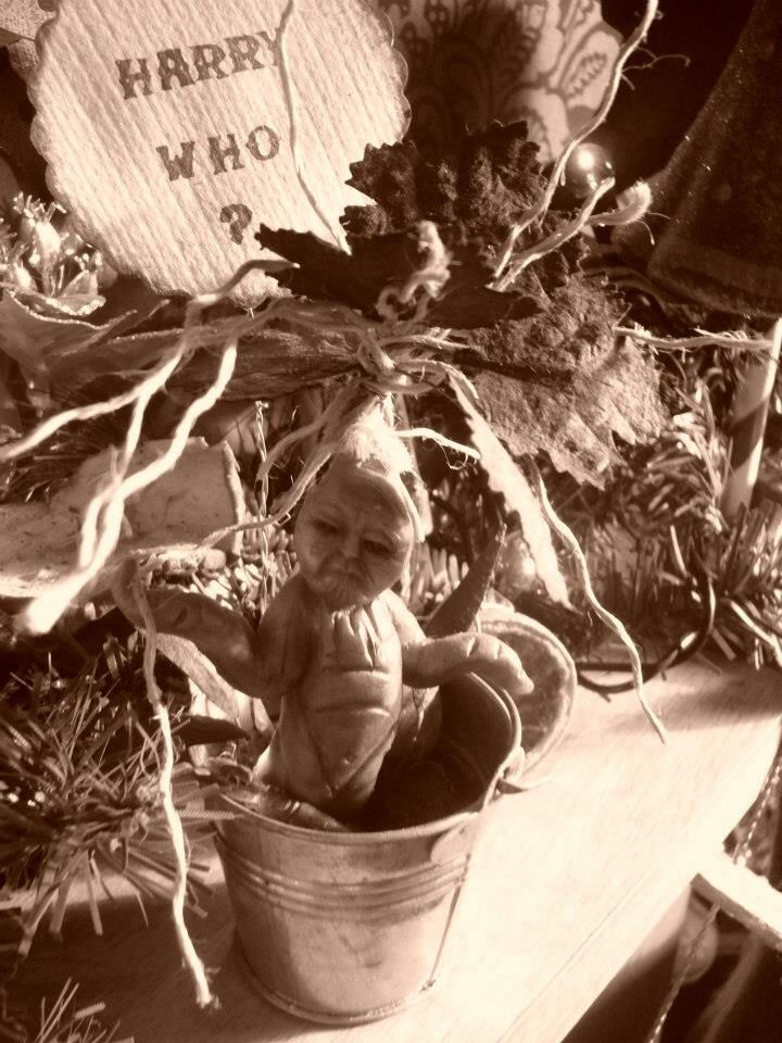 Harry potter inspired mandrake root sculpt
