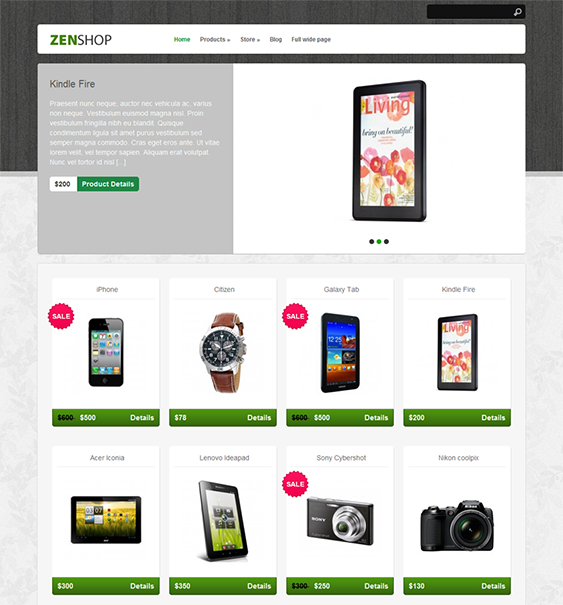 This Free Ecommerce WordPress Theme Is Compatible With The Cart - Wordpress ecommerce templates