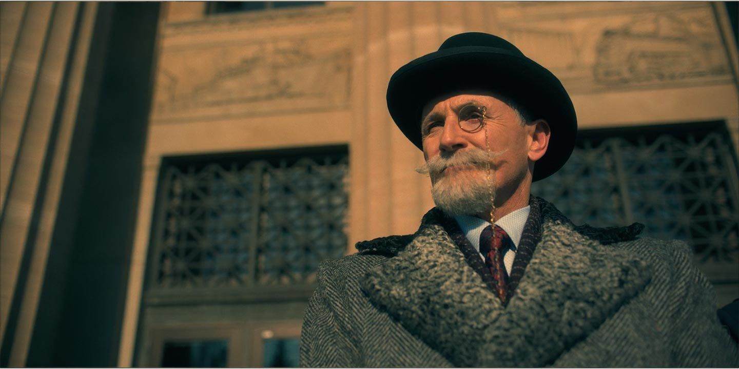 Colm Feore as Sir Reginald Hargreeves in season 1, episode 1 of ...