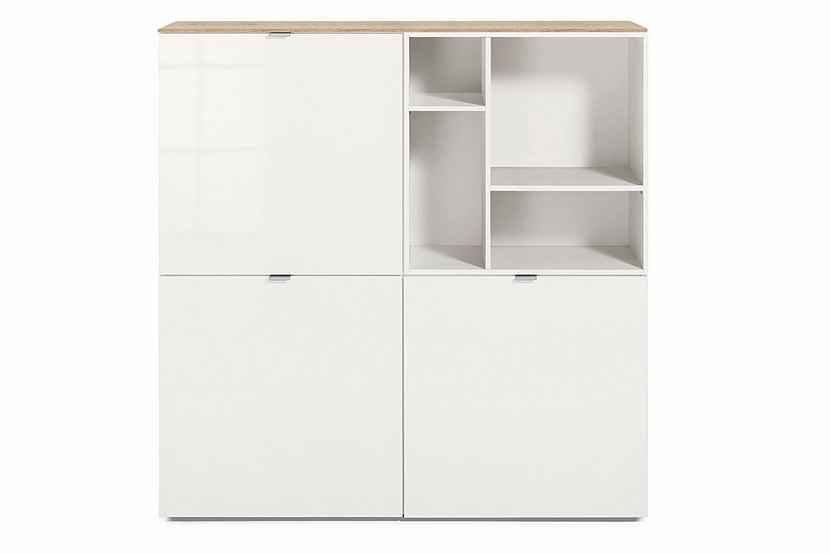 Set One By Musterring Highboard Colorado Front Hochglanz Offenes