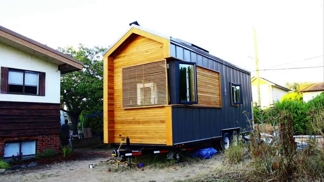 Students Build Tiny House On Vancouver Island Pt 1