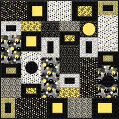 Image result for black and white modern quilts