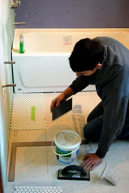 Installing Hexagon Tile For Beginners Tiles Bathroom Floors Diy Floor
