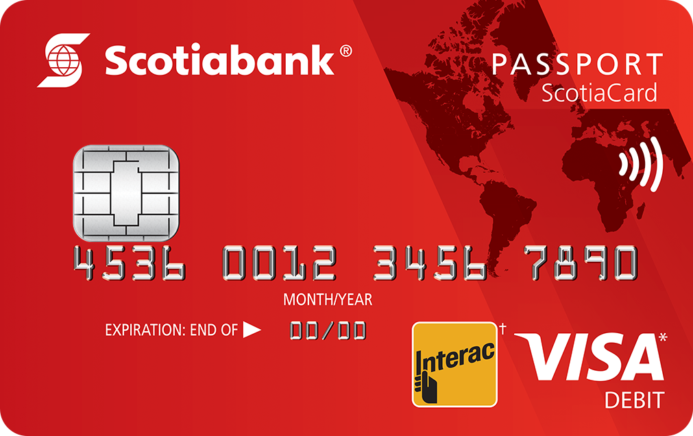 Scotiabank Passport Debit Card Banking services