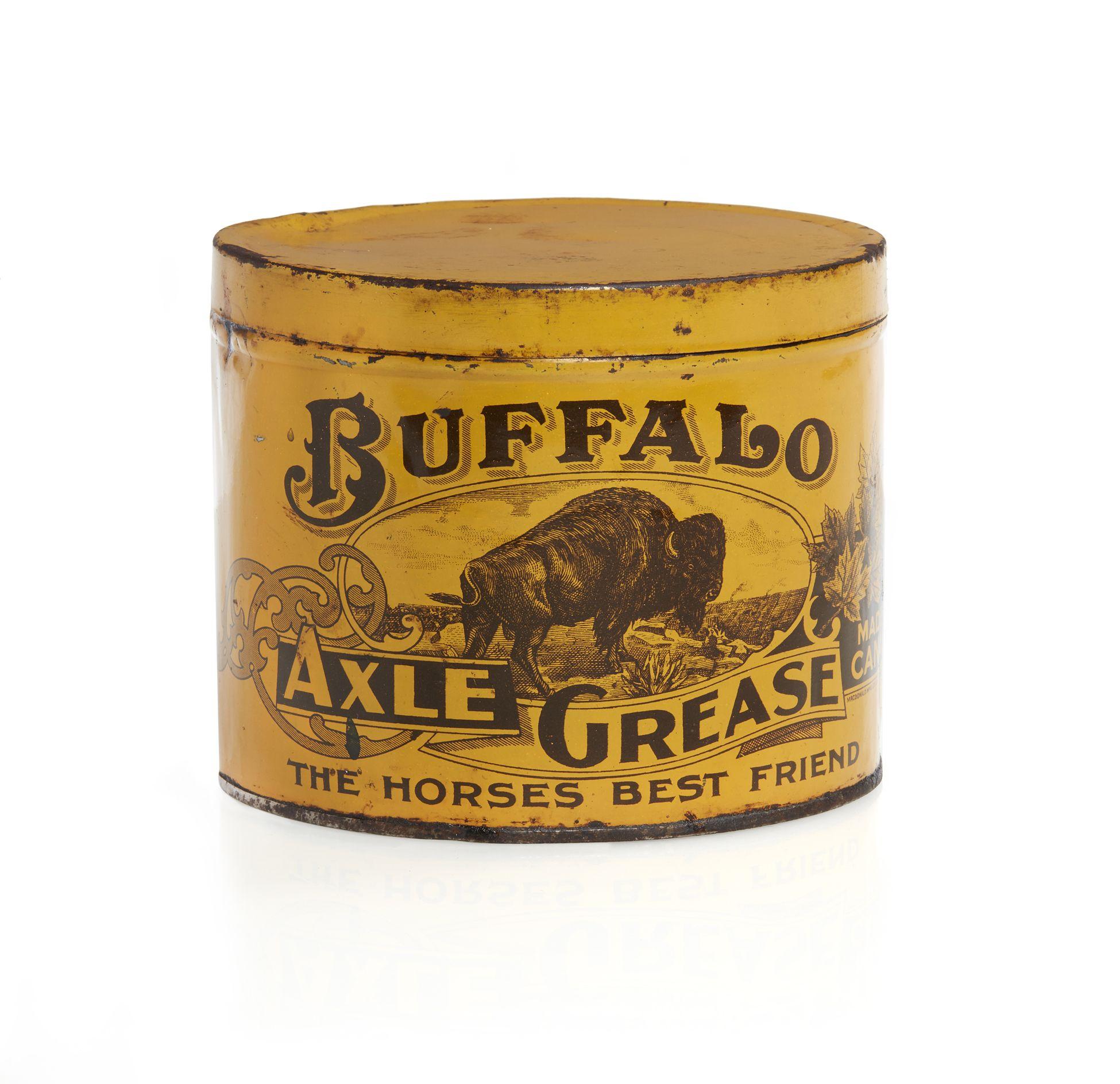 Tin of Buffalo Axel Grease,