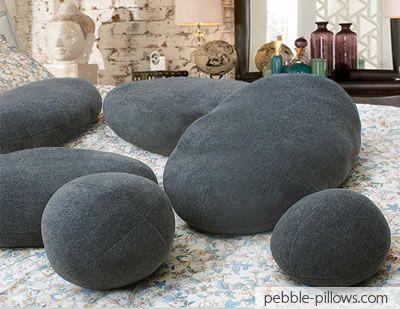 Living Stone Pillows for Dark Grey - Cotton & Dark Grey Living Stone Pillows http://pebble-pillows.com   House ... pillowsntoast.com