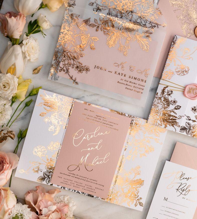 Wedding Invitations Gold Rose Gold Silver Glitter 3 Frameg Z Rose Gold Wedding Invitations Pink Wedding Invitations Gold Wedding Invitations