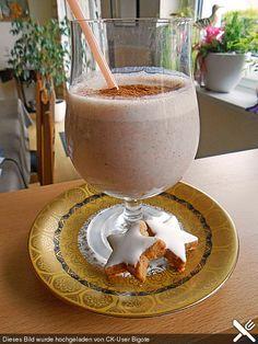 Kalorienarmer Zimt-Buttermilch-Shake