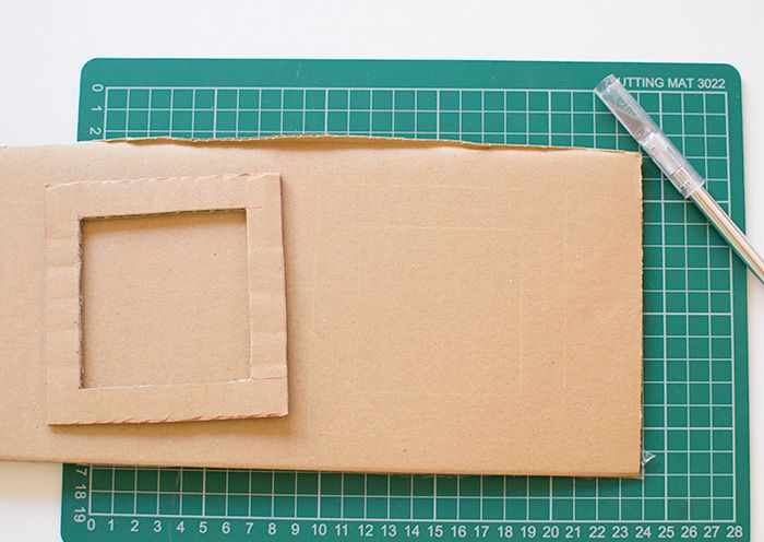 How To Make A Cardboard Diy Photo Frame Diy Frames Pinterest