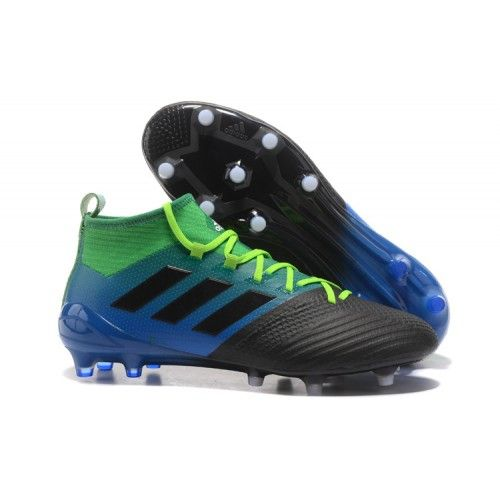 quality design 5fbe9 dc306 2017 Adidas ACE 17-1 FG Chaussures de football Noir Bleu Vert