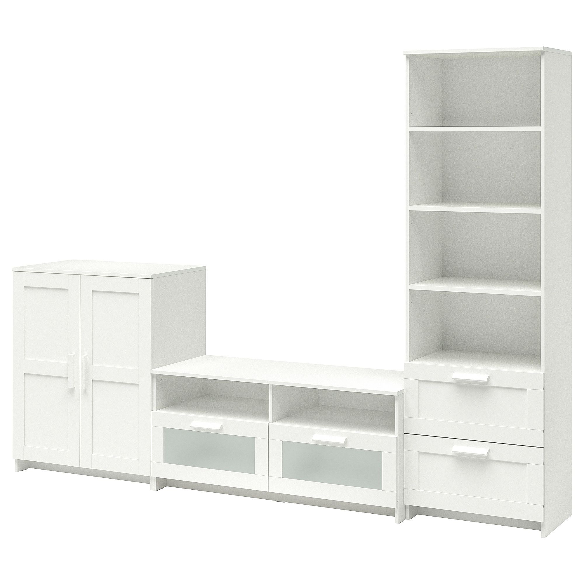 Ikea Glasregal Schwarz Brimnes Tv Storage Combination White In 2019 Furniture Tv