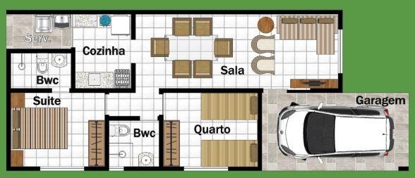 Planos de casas de 54 metros cuadrados casas in 2019 for Planos de casas pequenas de una planta