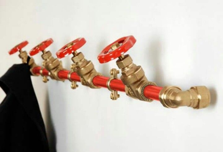Use a Pipe with Valves as a Coat Rack