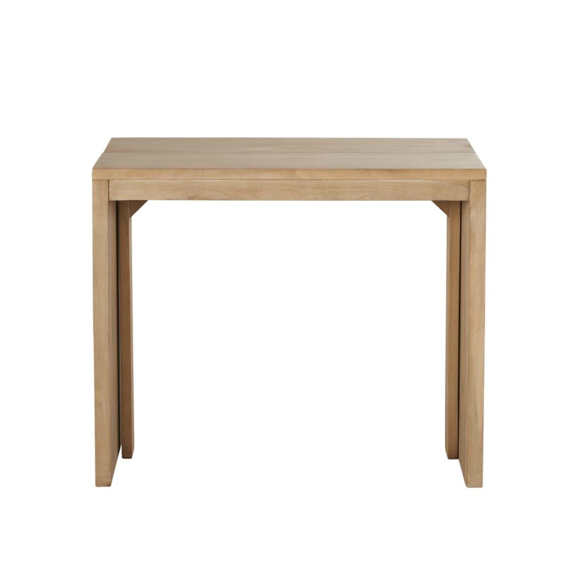 Mango Wood Extendable 6 Seater Dining Table W40 160 Alagaos Maisons Du Monde En 2020 Table Console Extensible Console Extensible Table A Manger Extensible