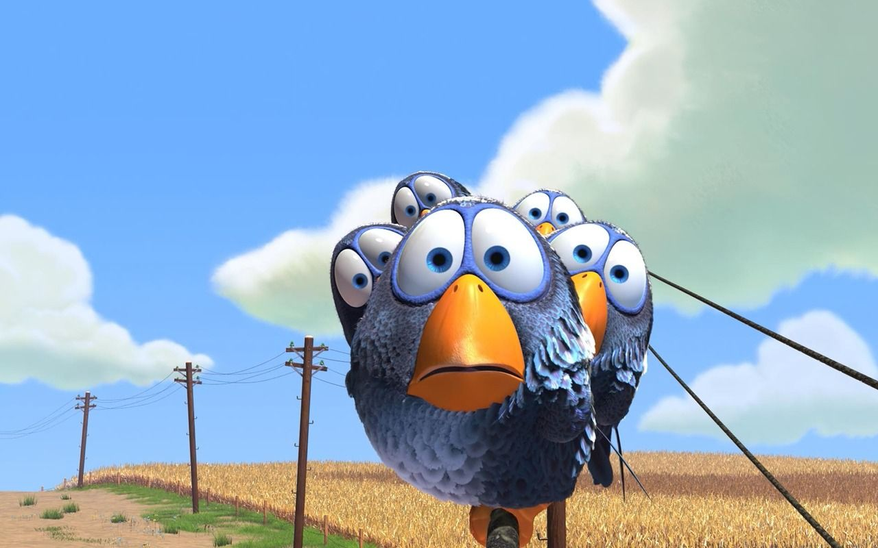 Blue Birds For The Birds Wallpaper For The Birds Pixar Bird Wallpaper Birds