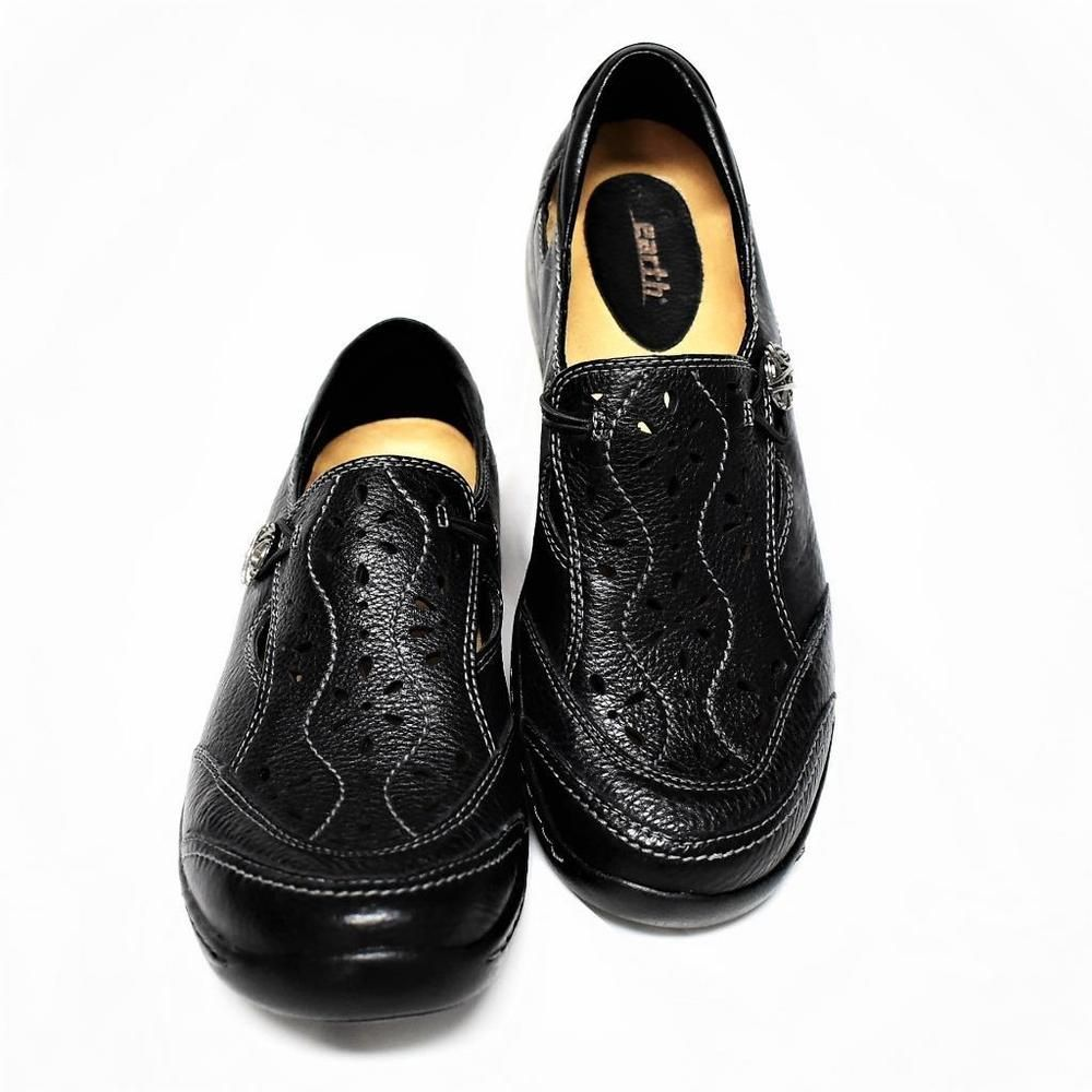 Shoes black leather