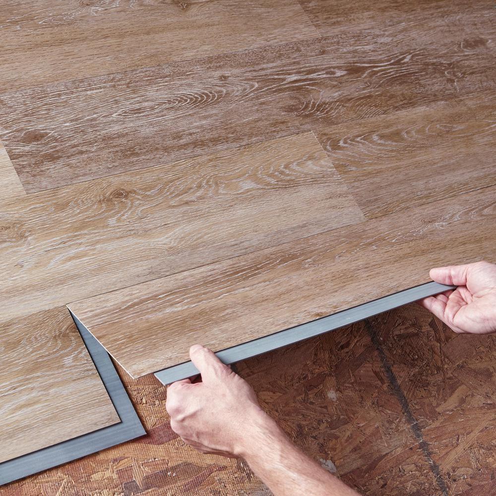 Trafficmaster Allure 6 In X 36 In Khaki Oak Luxury Vinyl Plank Flooring 24 Sq Ft Case 185312 The Vinyl Plank Flooring Luxury Vinyl Plank Vinyl Plank