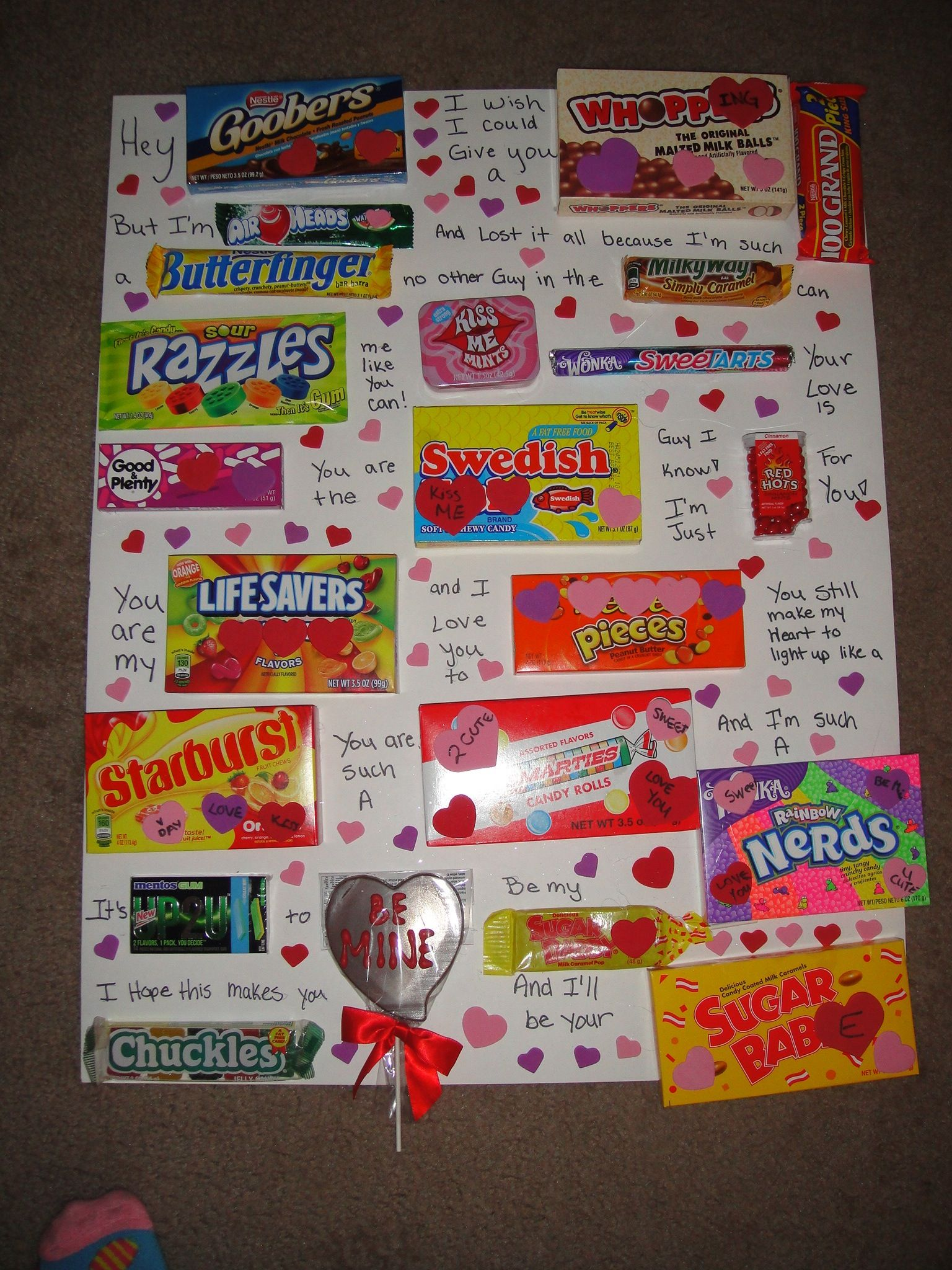 20 Cute Valentines Day Ideas – Candy Valentine Card