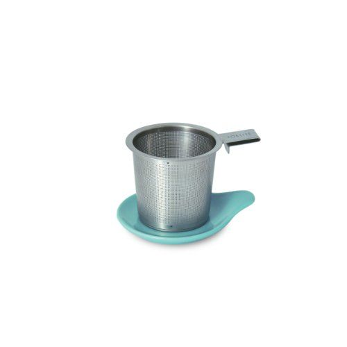 FORLIFE Hook Handle Tea Infuser and Dish Set, Turquoise - http://teacoffeestore.com/forlife-hook-handle-tea-infuser-and-dish-set-turquoise/