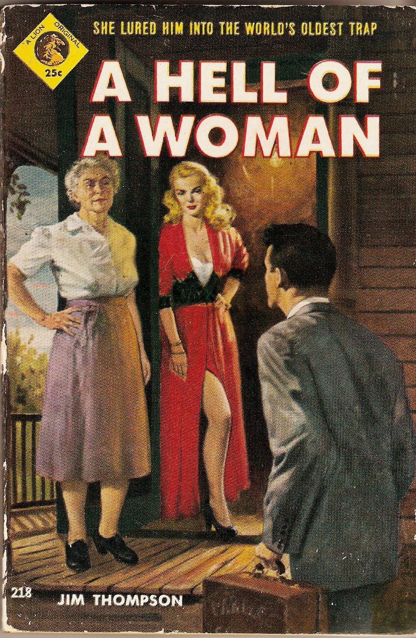 A Hell of A Woman by Jim Thompson us vintage pulp noir First