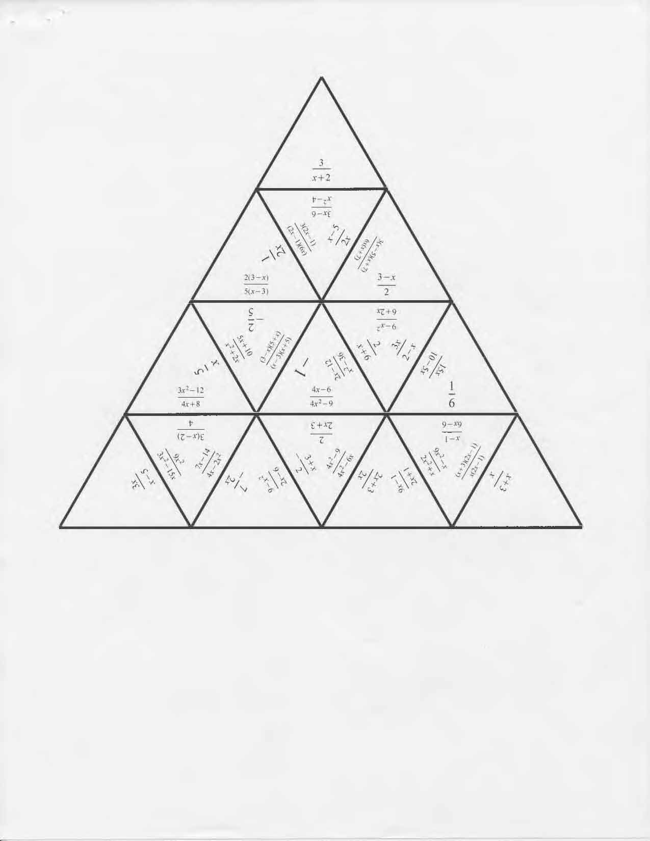 Tarsia Puzzle Simplify Rational Expressions Rational Expressions Simplifying Rational Expressions Expressions
