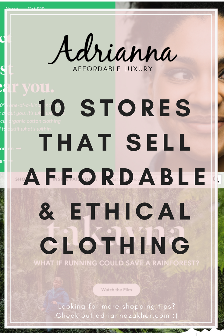 10 Stores That Sell Affordable & Ethical Clothing is part of Clothes Store Money - Tired of spending money on poor quality items or on expensive items  No problem! Here are 10 stores that are affordable, of quality and sustainable LLEGANCE