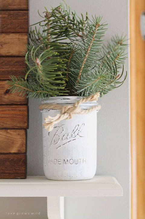 37 Magical Ways to Use Mason Jars This Christmas is part of Farmhouse Christmas decor - Fulfill all your Christmas decorating needs with just one jar  Or a couple dozen