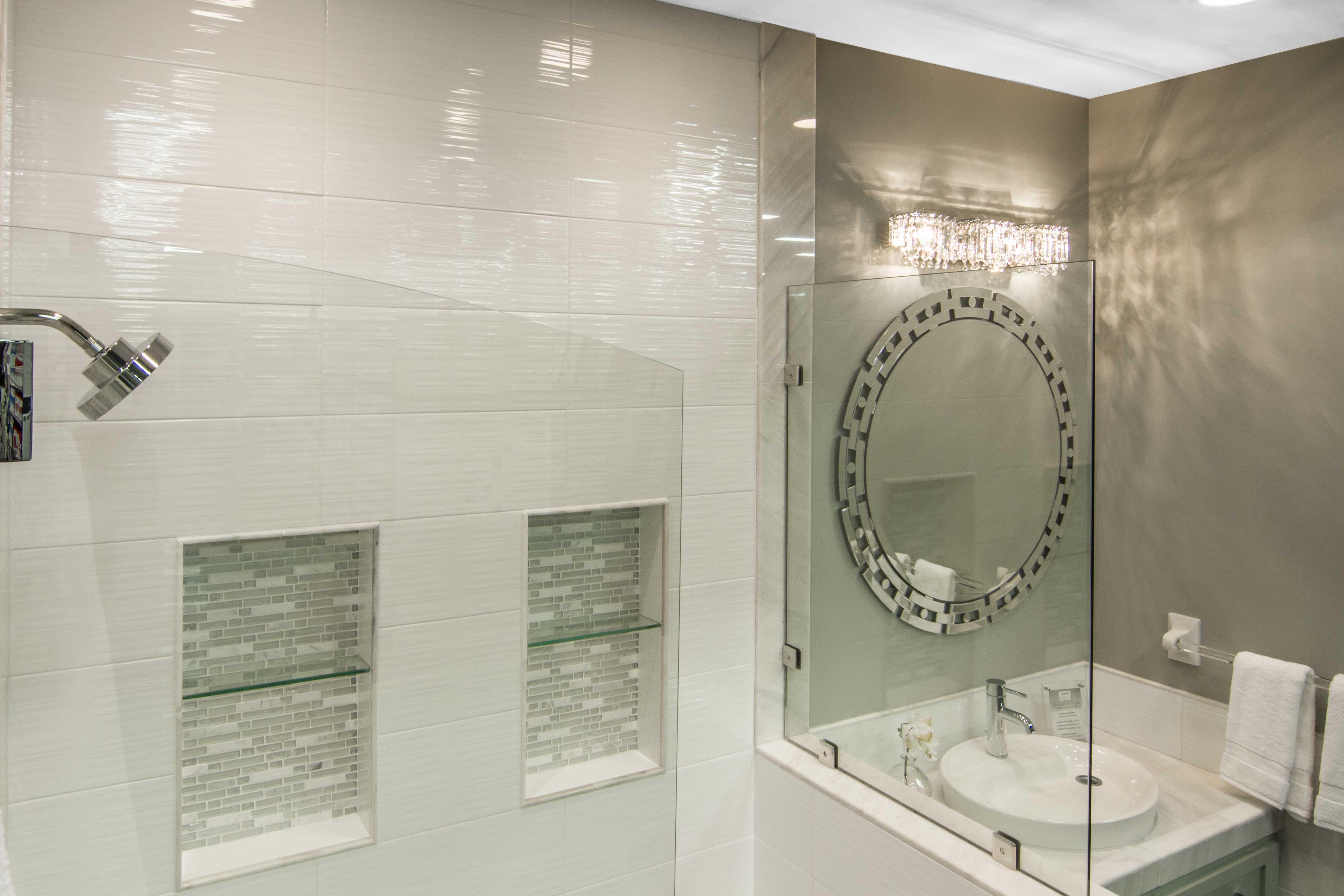 White bathroom tile - Hall Blanco Ceramic Wall Tile https://www ...
